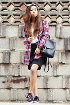 amethyst berricle ring - maroon asos shirt - black coach bag