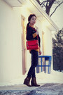 Mustard-tommy-hilfiger-sweater-black-sammydress-blazer-red-sammydress-bag