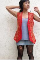 lillie rubin vest - American Apparel shirt - Charlotte Russe skirt - Thrift Stor