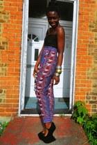 african print CJAJ09 pants - Ebay wedges - Sophia Emilia Swatson top