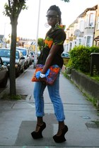 CJAJ09 shirt - Primark jeans - CJAJ09 bag - Ebay wedges