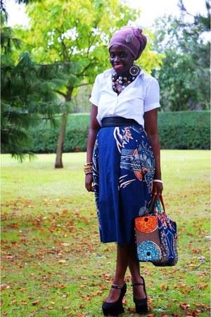 black CJAJ09 bag - navy Ebay wedges - CJAJ09 skirt