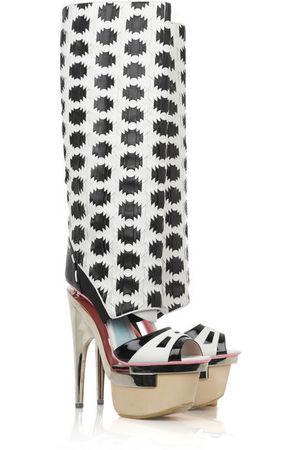 black versace boots
