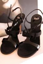 black D&G shoes