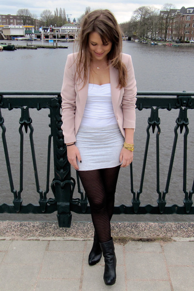 Blazer Gray H&m Skirt