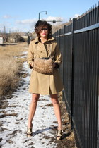 classic trench joe fresh style coat - Forever 21 hat - thrifted vintage glasses