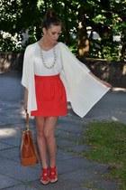 vintage blouse - River Island bag - Zara skirt - Zara heels