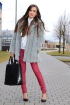 pull&bear pants - Zara bag - Bershka heels