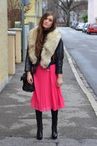 H&M skirt - venezia shoes - vintage jacket