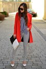 Zara-coat-h-m-shirt-glitter-bag-mango-wedges-stradivarius-pants
