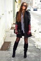 pull&bear shirt - H&M shirt - Stradivarius boots - Stradivarius coat