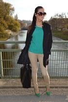 Zara bag - H&M blazer - H&M pants - Zara heels - vintage blouse