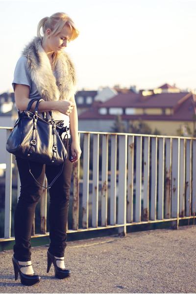 fur H&M scarf