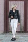 Booties-vintagw-boots-moto-jacket-vintage-jacket-alexander-wang-t-shirt