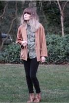 vintage jacket - Rodarte boots - velvety leggins Uniqlo leggings - vintage shirt