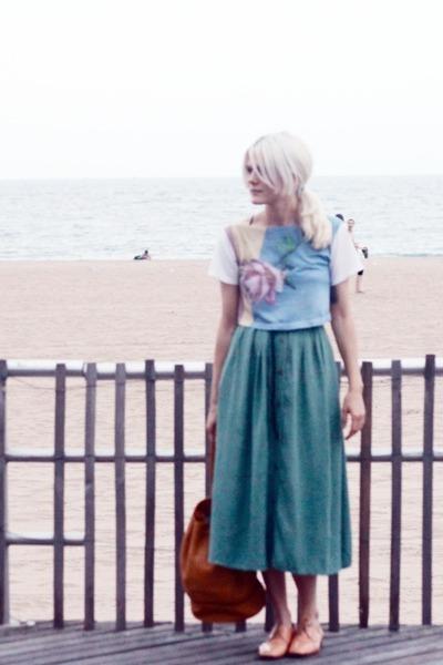 vintage skirt - dieppa restrepo shoes - TenOverSix bag