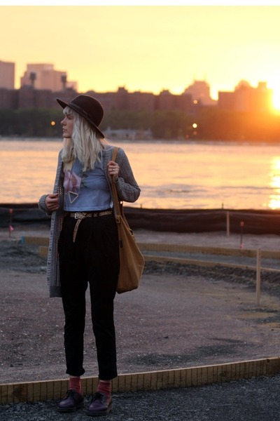 wool hat Pendleton hat - Docs shoes - chloe sevigny & opening ceremony shirt