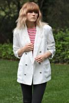 white blazer liz claiborne jacket