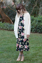 vintage dress - Rachel Comey boots - toggle cardigan vintage cardigan