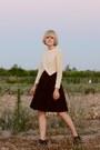 Brown-booties-rachel-comey-boots-vintage-dress
