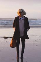 vintage jacket - loeffler randall boots - vintage sweater