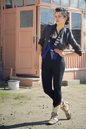 Peteris Ripa necklace - Agrita Krievina accessories - bought in Japan jacket - a