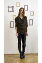 dark green knitted Zoe Phobic sweater