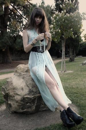 black sam edelman boots - light blue Kill Darling dress