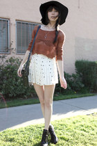 ivory LF stores skirt - black Alexander Wang boots