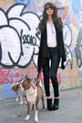 Black-gap-vest-white-vintage-top-black-elzabeth-james-boots