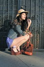 Purple-vintage-shorts-brown-barneys-co-op-shoes