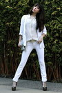 White-seven-jeans-white-topshop-blazer-cream-vintage-purse-bronze-sam-edel