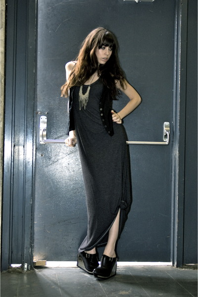 black city of dolls dress - black Jeffrey Campbell shoes