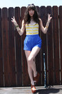Blue-free-people-shorts-white-sabre-sunglasses-brown-jeffrey-campbell-wedges