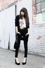 Black-urban-outfitters-jeans-black-steve-madden-heels-black-cardigan
