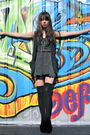 Black-from-thailand-vest-gray-from-thailand-dress-black-jeffrey-campbell-sho
