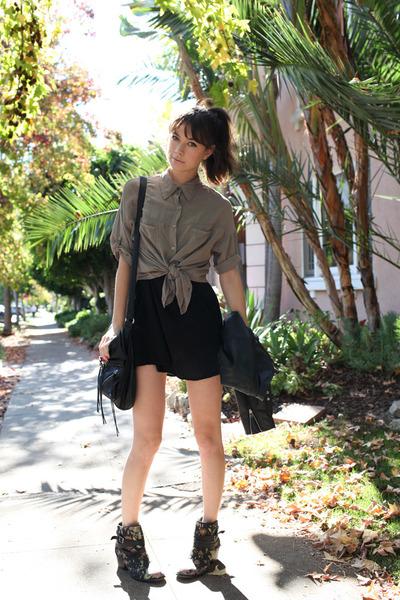 black floral Matiko boots - black brandy mellville dress
