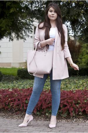 peach BonPrix coat - pink Mohito bag