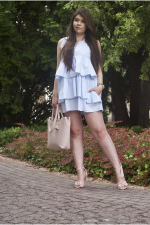 light blue Zara dress