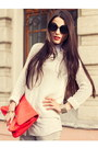 White-snakeskin-print-river-island-jeans-white-knitted-zara-sweater