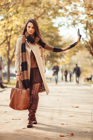dark brown Zara scarf
