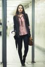 Black-topshop-jeans-black-topshop-blazer-ruby-red-zara-shirt