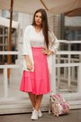Ivory-bershka-bag-ivory-american-apparel-t-shirt-hot-pink-h-m-skirt