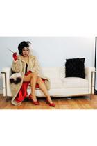 coat coat - Shoes shoes - Mod Cloth dress - purse - gloves