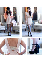 chloe shoemint pumps - nude color Urban Outfitters dress - H&M blazer