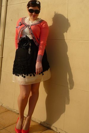 pink Friends of Couture cardigan - black Alannah Hill skirt - pink Miu Miu shoes