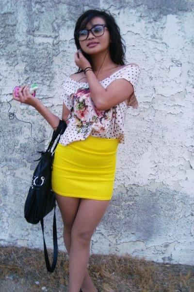 skirt - shirt - bag