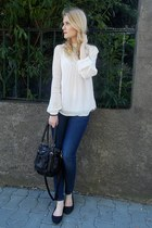 KappAhl blouse - H&M jeans - H&M bag