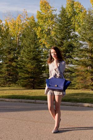 Celine bag - American Apparel dress - Charles Philip loafers