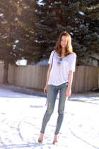 botkier bag - rag & bone jeans - Enzo Angiolini heels - wilfred t-shirt